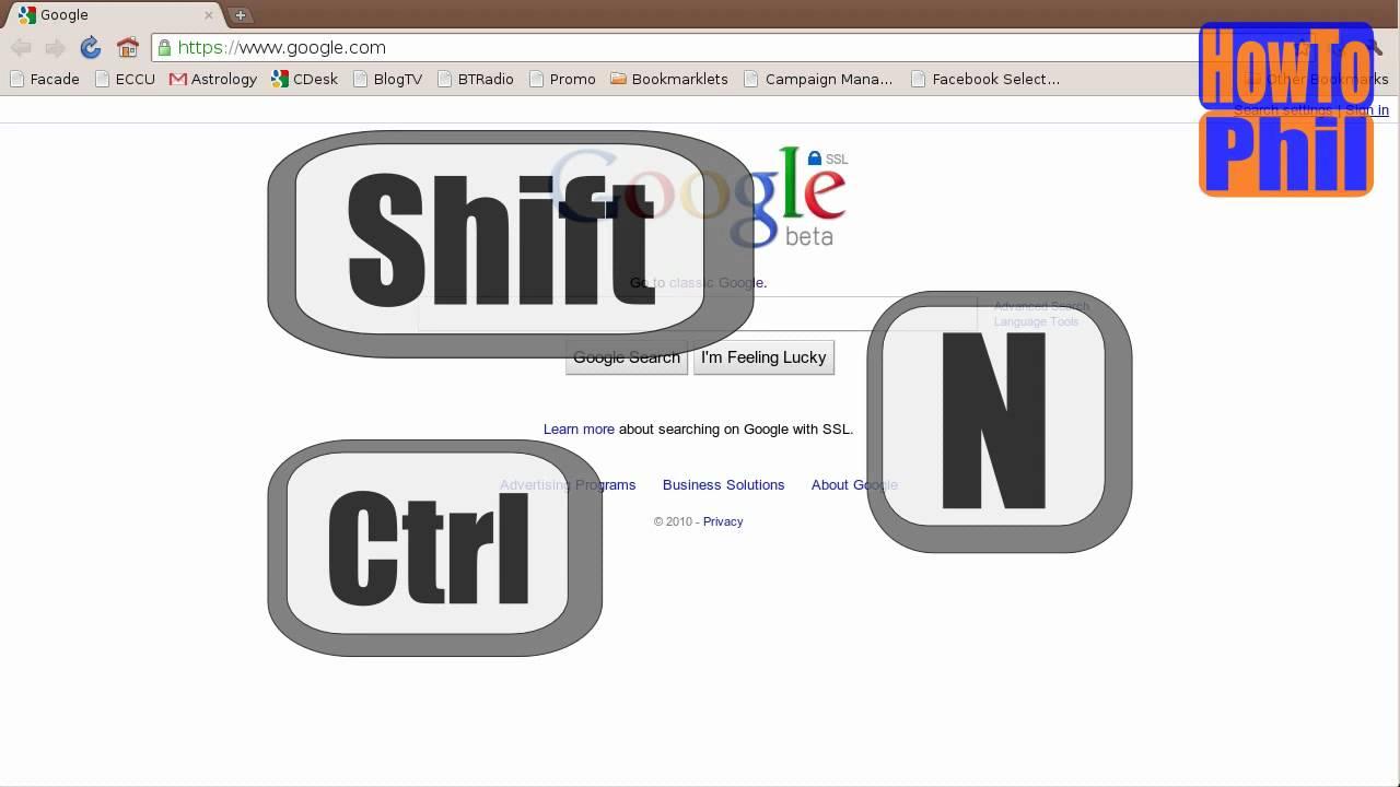 ctrl+shif+N