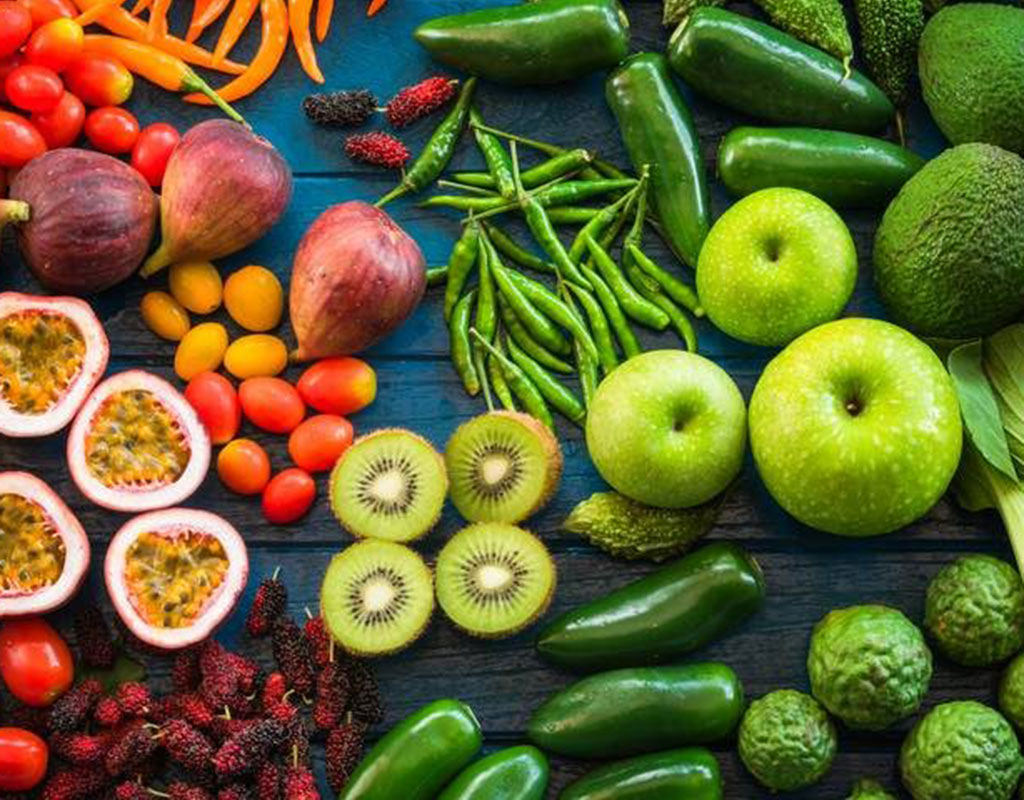 Healthy eating fruits and vegetables
