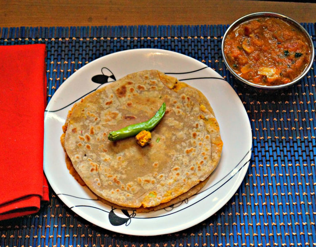 Cauliflower cheese paratha