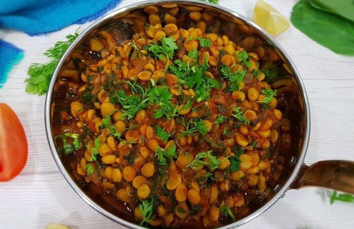 chana dal palak sabji recipe in tamil